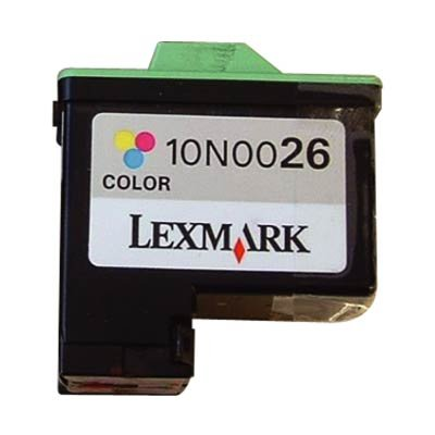 Lexmark 10N0026 26 OEM Ink Cartridge: TriColor Yields 275 Pages