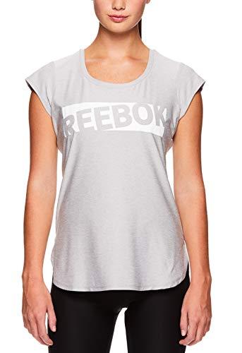 Reebok Women's Legend Performance Top Short Sleeve T-Shirt - Silver Sconce Heather, Medium