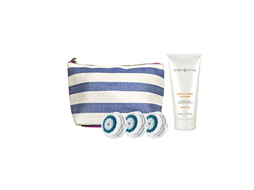 Clarisonic-3PK-Deep-Pore-Replacement-Brush-Head-with-Free-Travel-Bag-and-6oz-Gentle-Cleanser