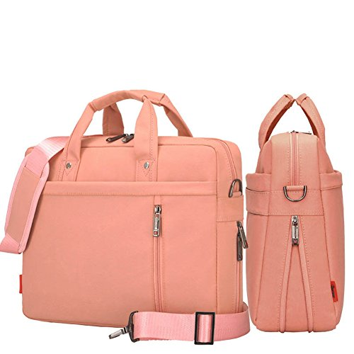 YIYINOE Shoulder Bag for 17 inch Laptop Business Briefcase Waterproof Messenger Bags Pink