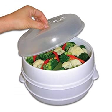 Handy Gourmet 2 Tier Microwave Steamer, Kitchen Appliances Vegetables, New