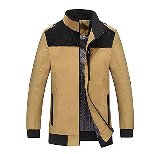 Abbigliamento Cappotto Con Giacca Zip Capispalla Gelb Anteriore Lunga Uomini Le Di Degli Tasche Manica Sudore Huixin nx01w