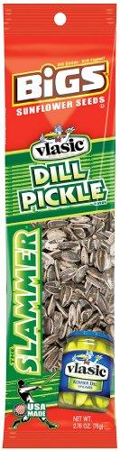 BiGS Sunflower Seeds Slammer, Vlasic Dill Pickle, 2.75-Ounce (Pack of (Black Beams)