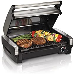 Hamilton Beach (25360) Electric Smokeless Indoor Grill & Searing Grill with Removable Plates
