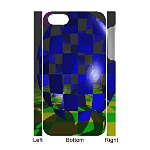 3D IPhone 4/4s Case, Non Slip Abstract Map Case for IPhone 4/4s {White}