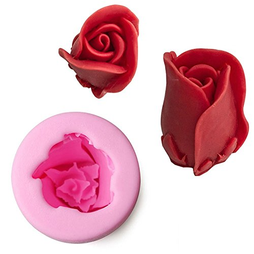 Cake Molds Food Silicone 3D Rose Style For Cake, Chocolate, Jelly, Pudding, Dessert Molds