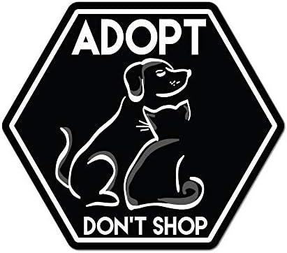 Adopt Don/'t Shop Dog Cat Heart Rub-On Vinyl Die Cut Decal Bumper Sticker Car Laptop