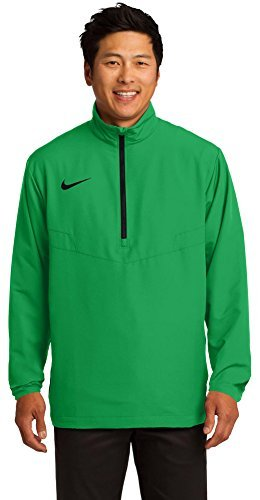 Nike HalfZip Mens Golf Wind Shirt XL Lucky Green-Black by NIKE