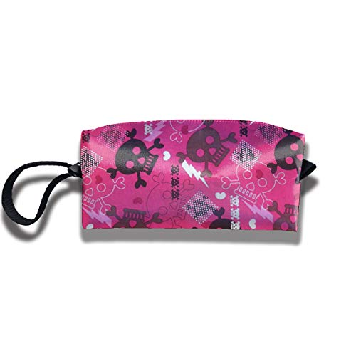 Halloween Girly Punk Travel Makeup Bag Cosmetic Bags Toiletry Bag Clutch Pouch Multi-Purpose -