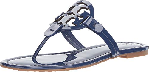 Tory Burch Bright Indigo Miller Patent Leather Flats