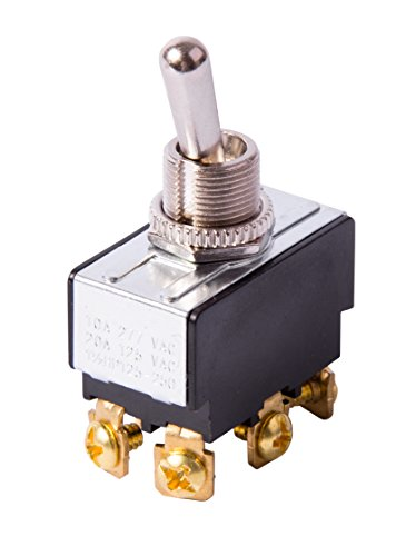 Gardner Bender GSW-15  Heavy-Duty Electrical Toggle Switch, DPST, Mom ON-Mom ON,  20 A/125V AC, Screw Terminal ()
