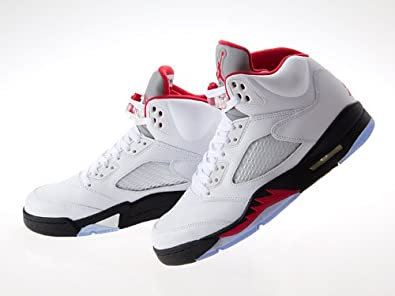 "[ナイキ] NIKE AIR JORDAN 5 RETRO ""FIRE RED"