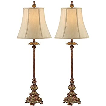 Ok Lighting Ok 4171m 31 Inch H Resemble Wood Buffet Lamp