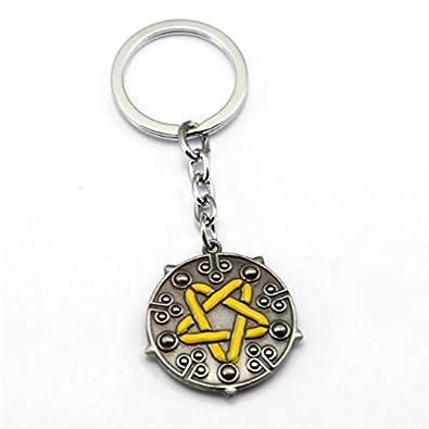 Amazon.com: The Witcher 3 Keychain Wolf Head Metal Pendant ...