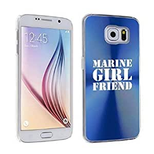 Samsung Galaxy S6 Aluminum Plated Hard Back Case Cover Marine Girlfriend (Blue)
