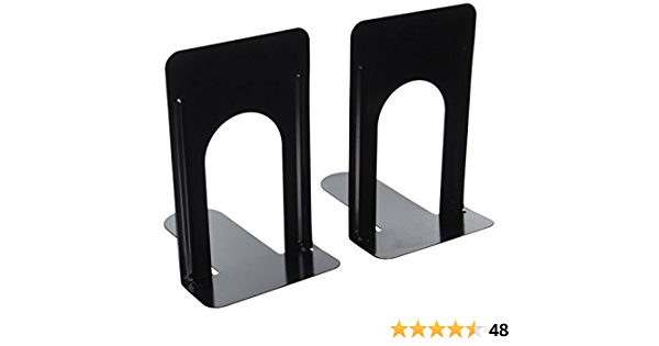 Economy Bookends Universal Black Heavy for Office,9 Inch Pack of 2 Pairs by Sun Cling,Black