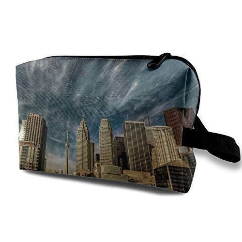 Toronto Cosmetic Bags Makeup Organizer Bag Pouch Zipper Purse Handbag Clutch -
