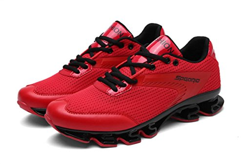 HYLM Fitness Zapatos Hombre Zapatillas Moda Zapatos Deportivos Al Aire Libre Casual Men Primavera Zapatos Red