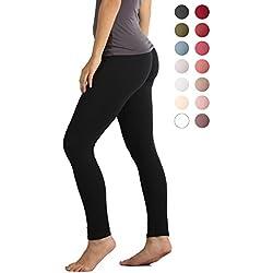Premium Ultra Soft High Waist Leggings for Women - Black - Small/Medium