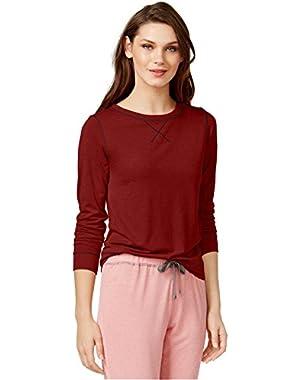 Calvin Klein Women's Liquid Lounge Long-Sleeve Knit Pajama Top