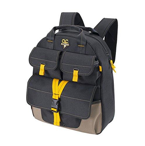 CLC Custom Leathercraft ECP135 E-Charge USB Charging Tool Backpack, 23-Pocket (Custom Leathercraft 1134 Tool Backpack 48 Pocket)