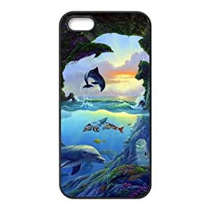 Dolphin iPhone 4 4s Cell Phone Case Black Customized Toy pxf005_9739461