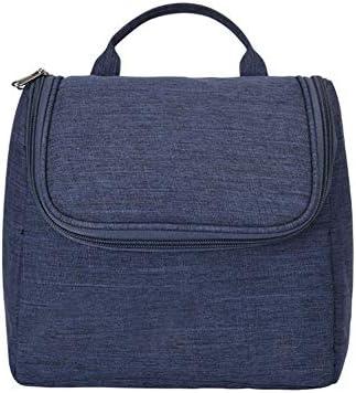 ZEZHE 男性と女性の防水ウォッシュ多機能化粧品は、アウトドアトラベル収納袋をフック (Color : Blue-a)