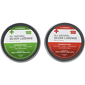 Amazon Com Activz 30 Ppm Silver Throat 21 Lozenges Net