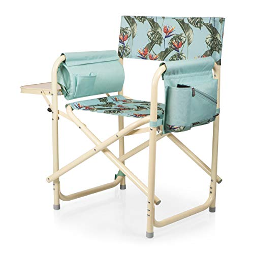 (ONIVA - a Picnic Time brand Outdoor Directors Folding Chair, Tropical Foliage)