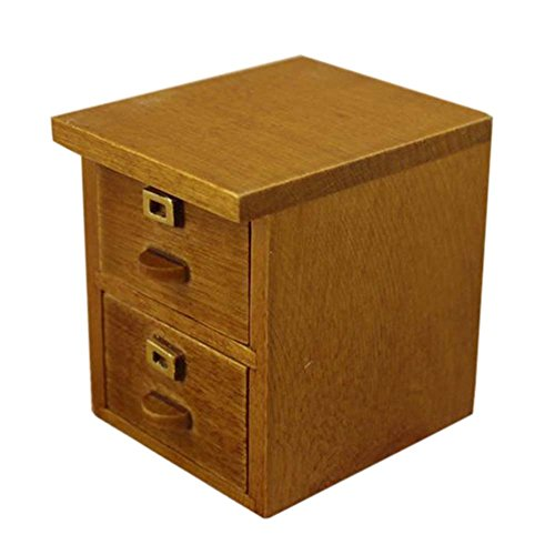Loweryeah Wood Color Wood Mini Furniture Accessories Cabinet Features Filing Cabinets Nightstands (File Nightstand Cabinet)