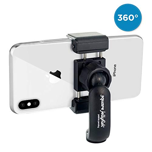 (Square Jellyfish Jelly Grip Tripod Mount | 360 Degree Swivel Squeeze Grip Compatible with All iPhone and Android (Mount Only))