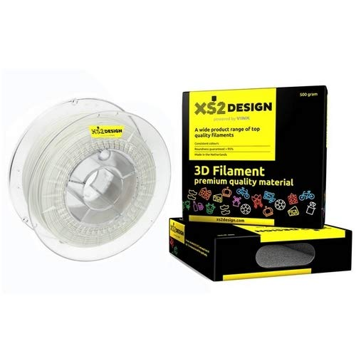 xs2de Sign filamento Nylon PA12 1,75 mm 500 g color blanco: Amazon ...