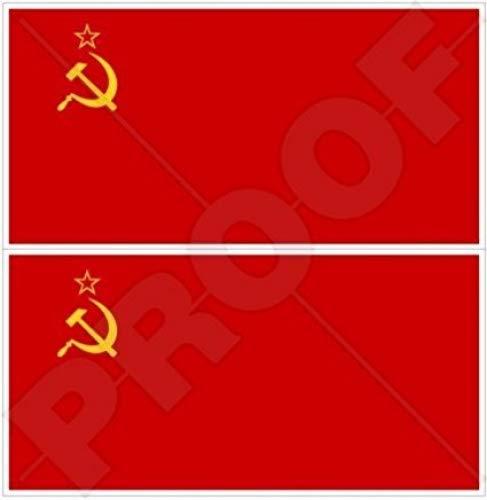 en vinyle Bumper Stickers Union sovi/étique drapeau communiste URSS Russie Russe 7,6/cm Stickers x2 75/mm