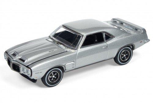 1969 SILVER PONTIAC FIREBIRD TRANS AM AUTO WORLD DIE-CAST 1:64 (1969 Pontiac Firebird Trans Am)