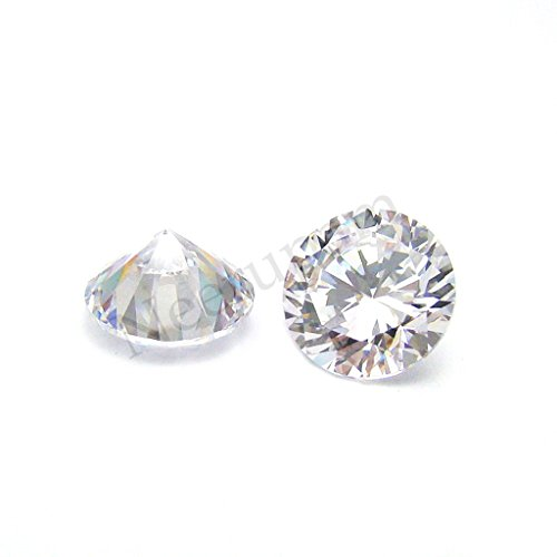 Neerupam collection White African Natural Zircon AAA Quality 1 mm Brilliant Cut Round Loose (Zircon Natural)