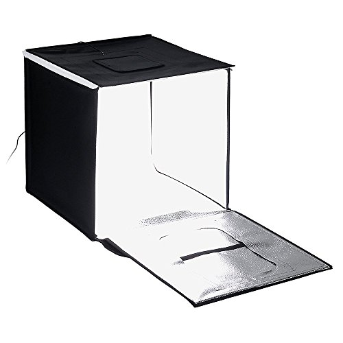 Fotodiox Pro LED 20x20'' Studio-in-a-Box for Table Top Photography - Includes light tent; Integrated LED Lights; carrying case and four backdrops by Fotodiox