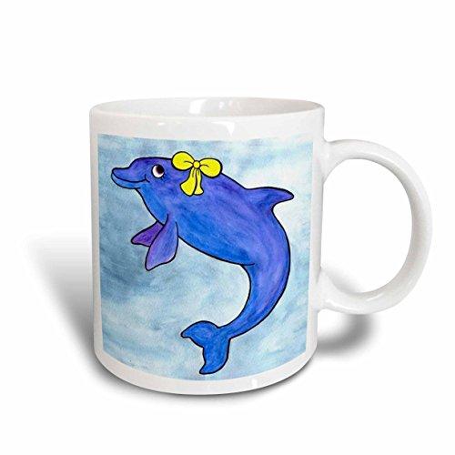 3dRose Daisy Bottlenosed Dolphin Mug, 11-Ounce