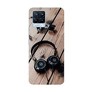 "TRUEMAGNET Premium ""Headphone"" Printed Hard Mobile Back Cover for Realme 8 / Realme 8 Pro, Designer & Attractive Case…"