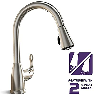 TECHO modern stainless steel kitchen faucets single handle with pull down sprayer