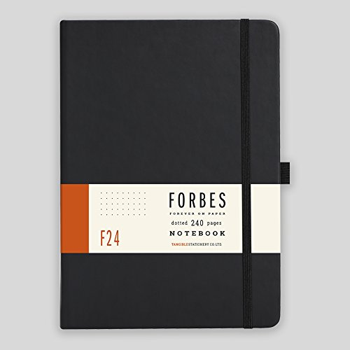 Forbes Classic Notebook - A5 - Dotted - Black by FORBES