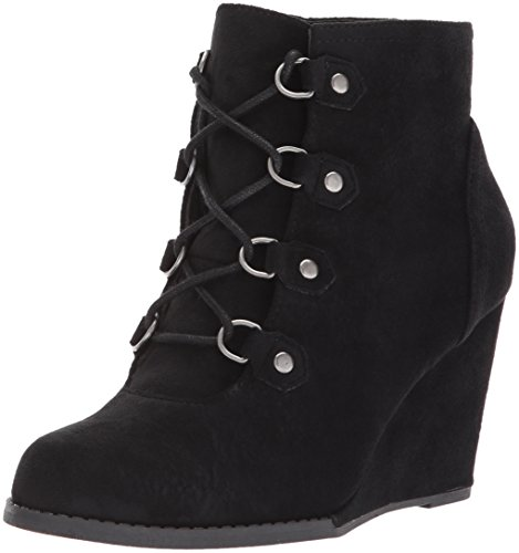 Madden Girl Women's Gayleew Ankle Bootie Black Fabric popular for sale C874LXy4