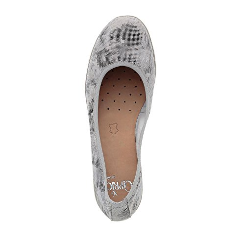 Caprice Damen 22152 Geschlossene Ballerinas Grau