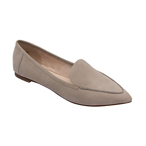 free shipping 100% authentic free shipping classic PIC/PAY Monica | Women's Almond Toe Slip-On Comfortable Flat Loafer (New Spring) Grey Nubuck k5OlbThr