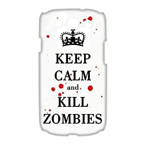 Funny Keep Calm and Kill Zombies Samsung Galaxy S3 I9300 3d Best Durable Case