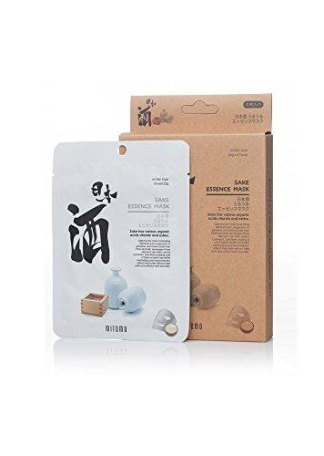 MITOMO Uruuru Face Sheet Mask High Quality. Made in Japan. Pack of 4 (25g x 4) (Sake)
