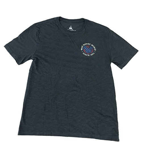 (DisneyParks Walt Disney World Since 1971 Flag Shirt Mens Navy (Small))