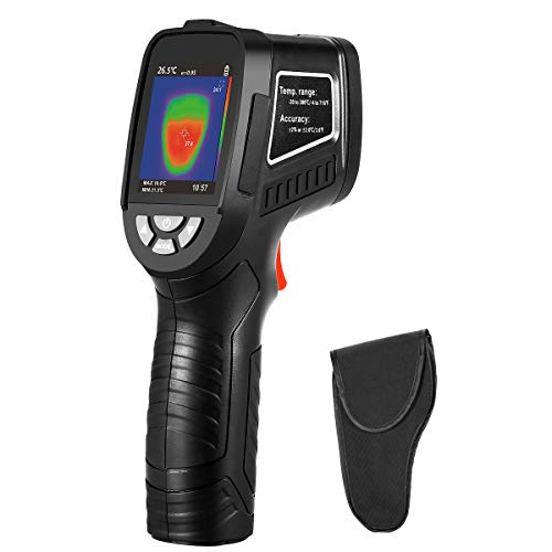 WonVon Thermal Imaging Camera Infrared (IR) Thermal Imager with 240x 320 Screen IR Resolution 1089 Pixels and Visual Resolution 300000 Pixels & Temperature Range from -4~716°F, 9 Hz Refresh - Infrared Camera Imaging