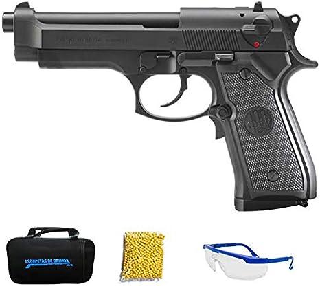Umarex – Beretta M92FS | Pistola de Airsoft Calibre 6mm (Arma Aire Suave de Bolas de plástico o PVC). Sistema eléctrico <3,5J