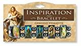 Inspiration Hematite Stretch Bracelet - Jesus, Mary & More