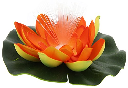 Adhesive Fiber Optic Lily Pad, Flashes with Multicolored LED (Fiber Optic Lily)